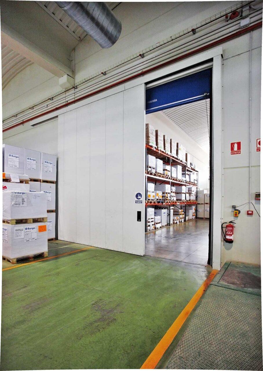 Puerta cortafuegos industrial