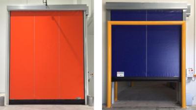 Puerta para cámara frigorífica con cortina de aire