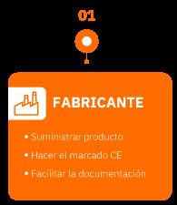FABRICANTE: suministración, mercado CE y documentación