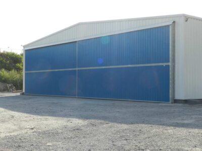 Puerta industrial corredera rodante